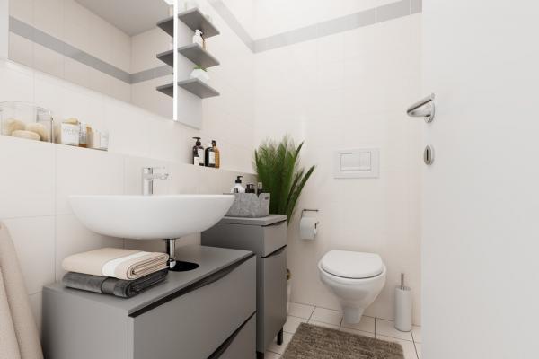 visualisiertes Gäste-WC