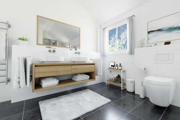 Tageslicht-Wannen-Dusch-Bad