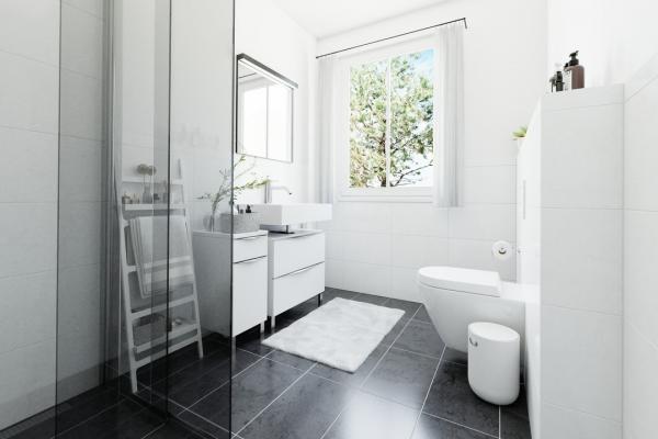 Gäste-Bad mit Fenster